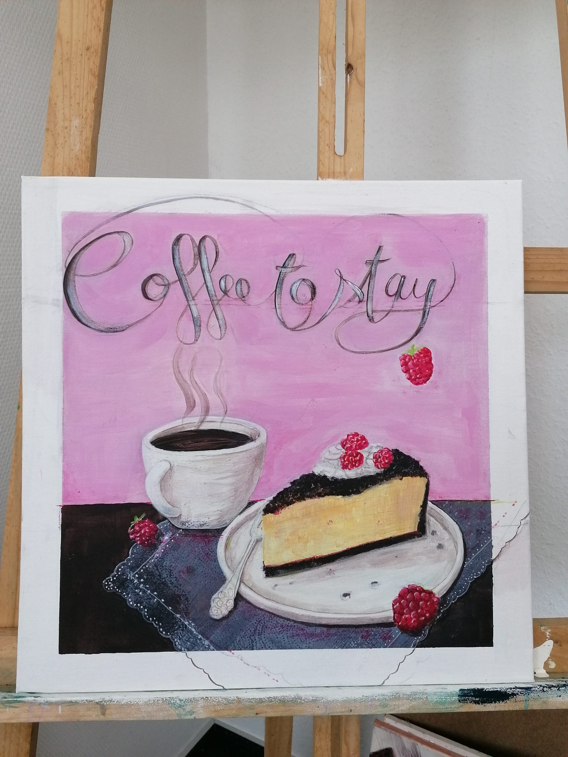 Coffe to stay watermixable oil + acryl